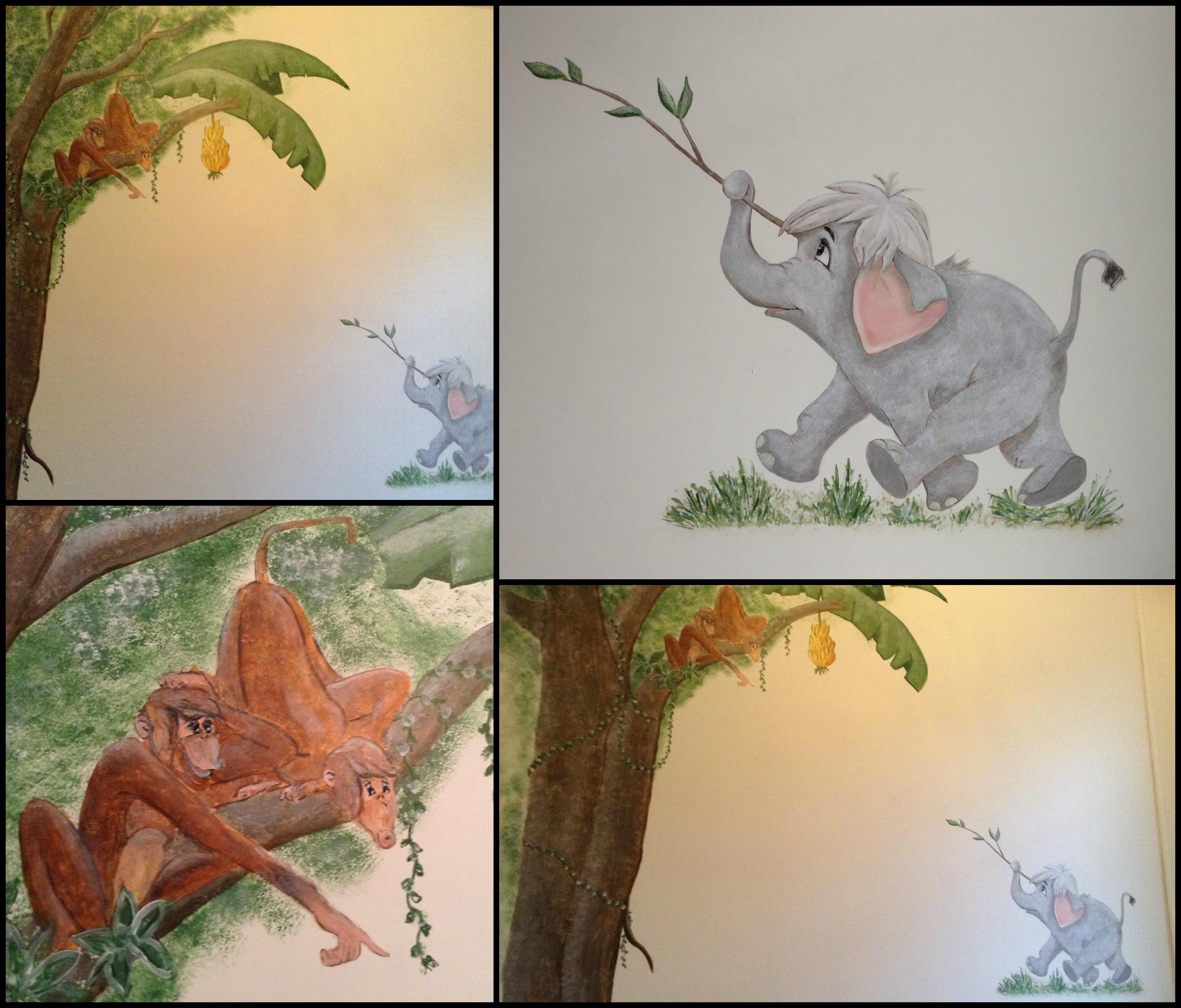 Jungle kinderkamer ontwerp - Ontwerp muurschildering ...
