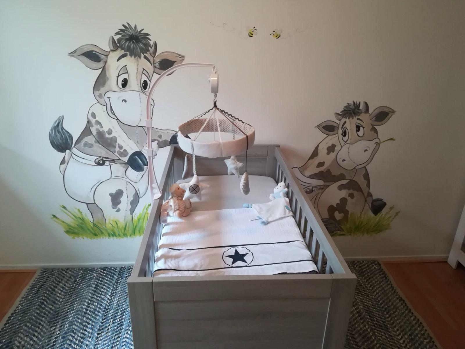 Muurschilderingen Voor Slaapkamer : Muurschildering bam crea vrolijke kinderkamer mooie woon of slaapkamer